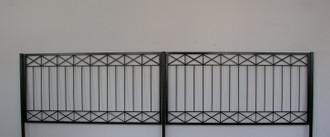 Gartenzaun Metall Modern Zaun Balkongeländer Crossline-Z100/200 Feuer Verzinkt – Bild 1