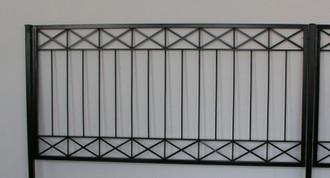 Gartenzaun Metall Modern Zaun Balkongeländer Crossline-Z100/200 Feuer Verzinkt – Bild 4