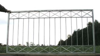 Gartenzaun Metall Modern Zaun Balkongeländer Crossline-Z100/200 Feuer Verzinkt – Bild 5