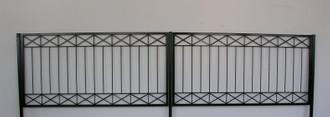 Gartenzaun Metall Modern Zaun Balkongeländer Crossline-Z100/200 Feuer Verzinkt – Bild 8