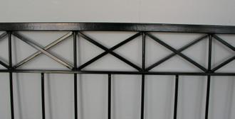 Gartenzaun Metall Modern Zaun Balkongeländer Crossline-Z100/200 Feuer Verzinkt – Bild 9