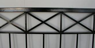 Gartenzaun Metall Modern Zaun Balkongeländer Crossline-Z100/200 Feuer Verzinkt – Bild 10