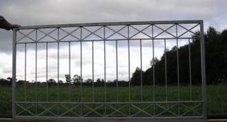 Eisen Zaun Zäune Balkon Tor Crossline-Z80/200 Roh Rost – Bild 1