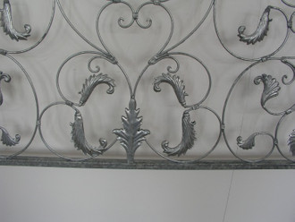 Schmiedeeisen Eisen Zaun Zäune Metall Lisbao 150 cm Roh Rost Antik – Bild 5