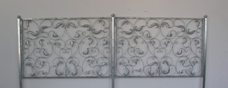 Schmiedeeisen Eisen Zaun Zäune Metall Lisbao 150 cm Roh Rost Antik – Bild 1