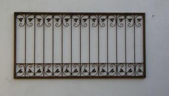 Schmiedeeisen Metallzaun Gartenzaun Monaco-Z140/200 Roh /rost – Bild 1