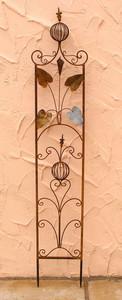 Rankstab Spalier Rankhilfe Rosenstab Obelisk Floranti Roh Rost – Bild 1