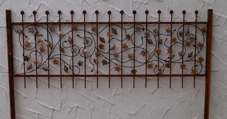 Panneaux de clôture Jardin, terrasse Forge Fer Clôture Fer ...