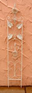 Rankstab Spalier Rankhilfe Rosenstab Obelisk Floranti Weiß Shabby white – Bild 1