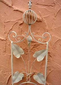 Rankstab Spalier Rankhilfe Rosenstab Obelisk Floranti Weiß Shabby white – Bild 2
