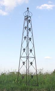 Rankstab Rankhilfe Rank Pfosten Obelisk Cornwall Schwarz – Bild 3