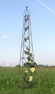 Rankstab Rankhilfe Rank Pfosten Obelisk Cornwall Schwarz – Bild 1