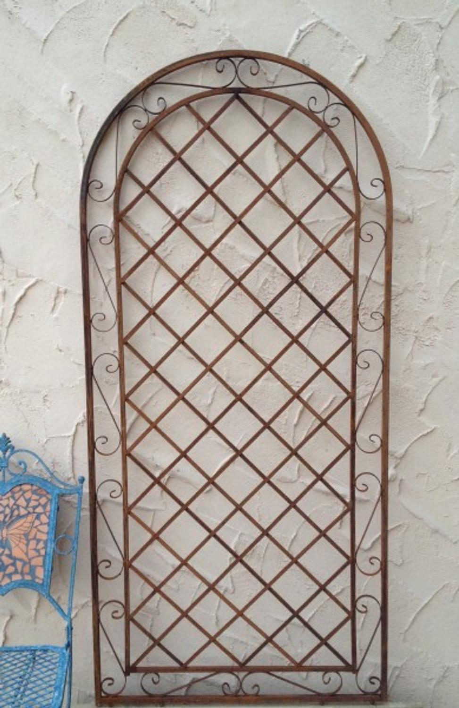 rankgitter spalier wand rankhilfe sichtschutz metall provence rost gartengestaltung rankgitter. Black Bedroom Furniture Sets. Home Design Ideas