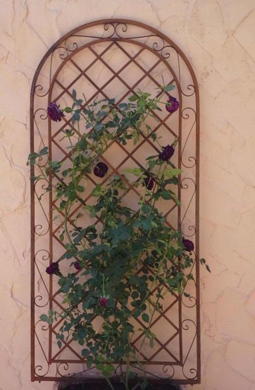 Rankgitter Spalier Wand Rankhilfe Sichtschutz Metall Provence Rost