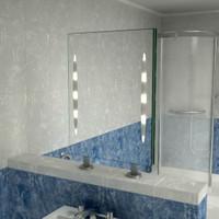 Spiegelraumteiler Peitho II,  800 x 700 mm (BxH)   001