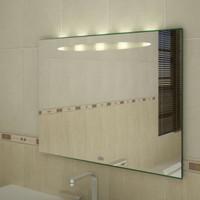 Badspiegel mit Beleuchtung,  900 x 600 mm (BxH), Peitho I 001
