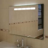 Badspiegel mit T5 Leuchtstoffröhren,  900 x 700 mm (BxH), Hypnos I 001