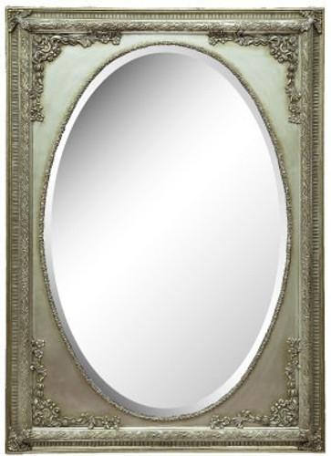 Holz-Rahmen Nathalie Silber mit Spiegel