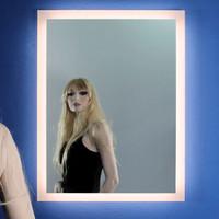LED Spiegel - Nero Circolare 001