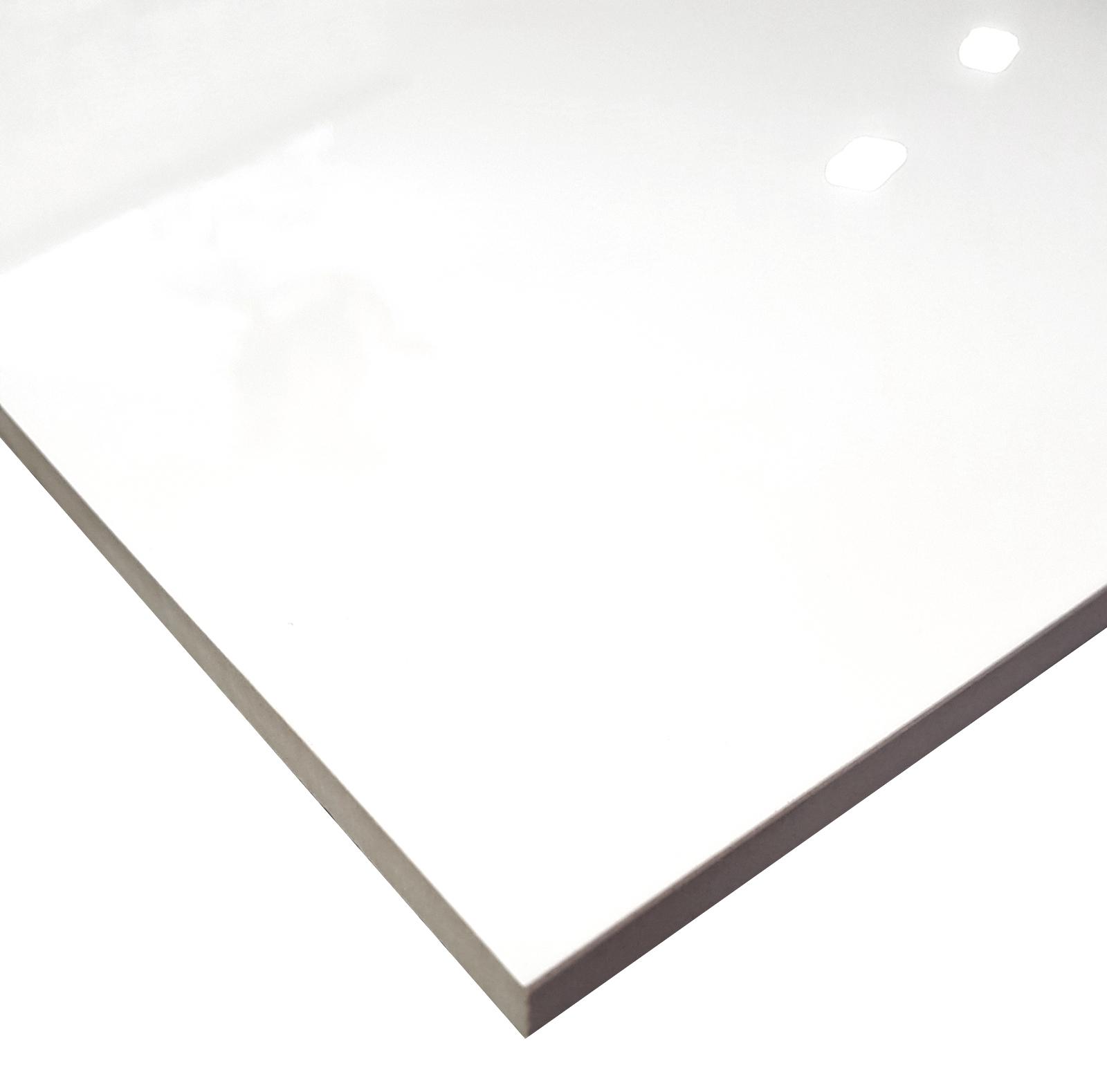 Weiss Uni Poliert 60x60 Cm Bodenfliese Glanzend Rektifiziert