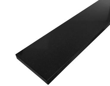 Nero Assoluto Granit Sockelleisten Poliert 7x61x1 cm – Bild 1