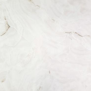 Bodenfliese Nice Pearl Weiß Grau Poliert Glänzend 80x80 cm – Bild 1