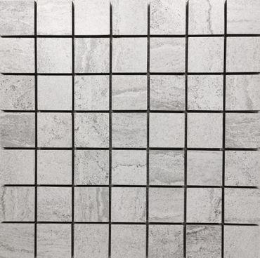 Mosaik Mercury White Grey Keramik 33x33 cm