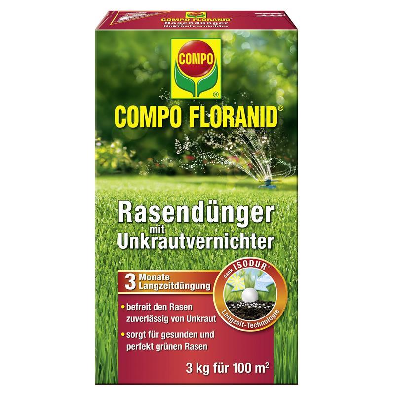 Compo Floranid Rasendünger Mit Unkrautvernichter 3kg Garten Rasen