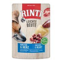 RINTI Leichte Beute Rind Pur + Geflügelherzen 400g