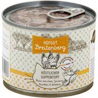Hofgut Breitenberg Cat köstlicher Suppentopf Huhn mit Leber, Karotten und Brokkoli 180g