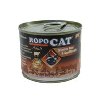 RopoCat Adult feinstes Rind & Kopffleisch 200g