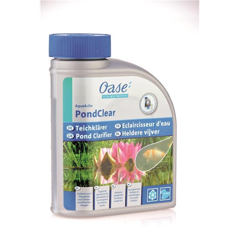 oase aquaactiv pondclear 500 ml gartenteich teichpflege wasserpflege oase. Black Bedroom Furniture Sets. Home Design Ideas