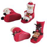 """1 Paar Homesocks Antirutsch ABS Socken Hüttensocken """" Elch"""" und """"Weihnachten""""  001"""