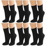 Lavazio® 6 Paar warme und kuschlige Damen Thermosocken uni schwarz, mehrfarbig