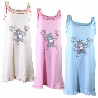Damen Träger Nachthemd dünn und sommerlich in verschiedenen Farben und Größen