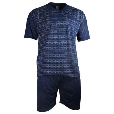 Herren Schlafanzug kurz Shorty T-Shirt bedruckt Hose uni 2 Typen in 6 Farben – Bild 12