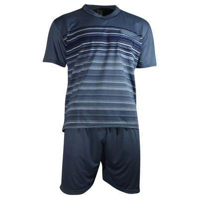 Herren Schlafanzug kurz Shorty T-Shirt bedruckt Hose uni 2 Typen in 6 Farben – Bild 16