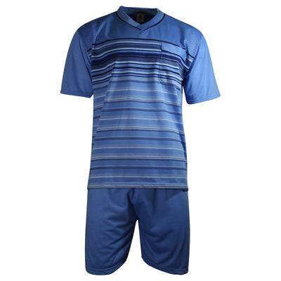 Herren Schlafanzug kurz Shorty T-Shirt bedruckt Hose uni 2 Typen in 6 Farben – Bild 20