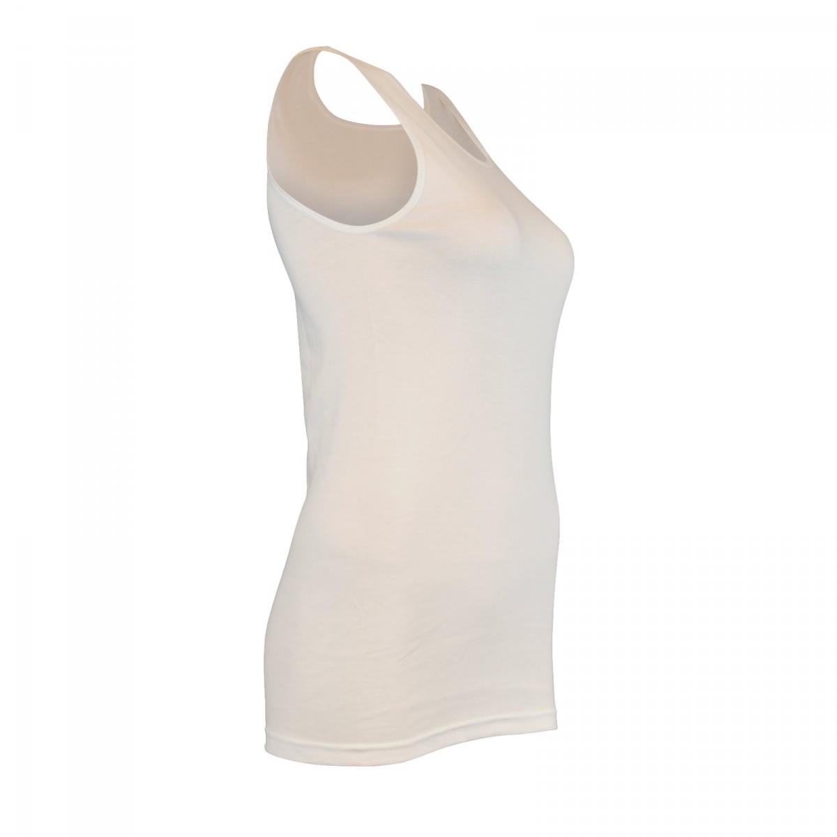 check out 53891 781ec 4 Stück Damen Unterhemden Vollachsel Baumwolle weiß 30511