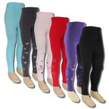 Kinder Thermo Leggings flauschig warm m.Innenflanell in 7 Farben&Motiv - Lavazio