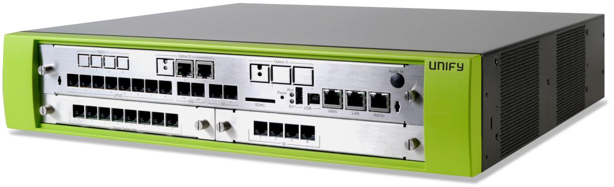UNIFY OpenScape Business V2 X3R Systemeinheit für die Rackmontage, LAN/WAN, 2xS0 / 8xUP0/E / 4x a/b L30251-U600-G653