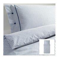 Funda nórd y 2 fundas almohada, blanco/azul (155x220/80x80 cm)