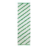 in weiß/grün; flach gewebt; handgewebt; (70x250cm)