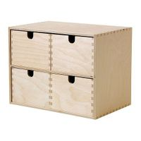 IKEA MOPPE Mini-Kommode in Birke (29x18x22 cm) 001