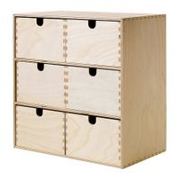 IKEA MOPPE Mini-Kommode in Birke (31x18x32 cm) 001