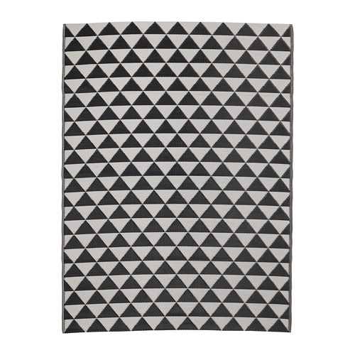 ikea sommar 2018 teppich in schwarz grau flach gewebt 180x240cm ebay. Black Bedroom Furniture Sets. Home Design Ideas