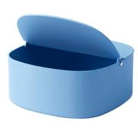 mit Deckel; in blau; (16x15x12cm)