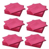 in pink; (40cm x 40cm); dreilagig; 6 x 50 Stück