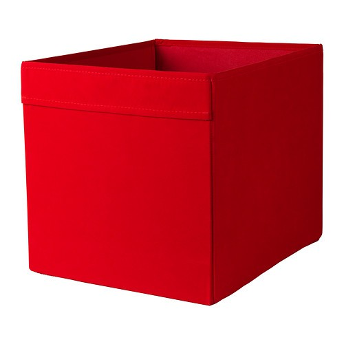 Ikea dr na box in rot 33x38x33cm passend f r expedit for Kallax rot