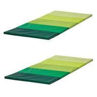 in grün; faltbar; (78x185cm); 2 Stück